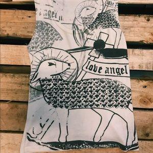 L.A.M.B. Love Angel Flag Tank